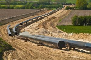 Gasleitung im Bau